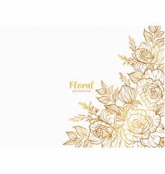 beautiful modern floral background design vector image