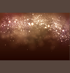 bokeh background magic christmas dark banner vector image