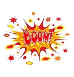Boom comics icon vector