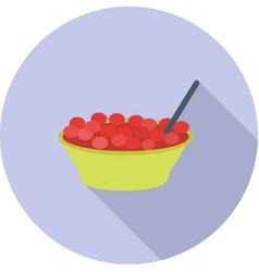 Bowl of cranberries vector