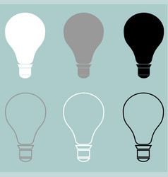 bulb or electric light icon bulb or electric vector image