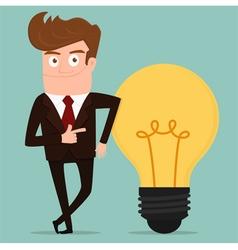 Businessman with big idea vector image vector image