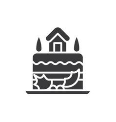 cake icon vector image