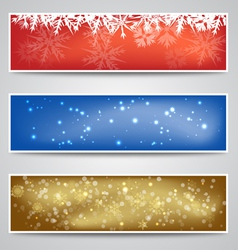 Christmas Banners Set vector image