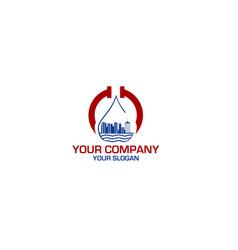 City plumbing services logo design vector