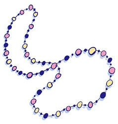 Colorful beads necklace icon vector