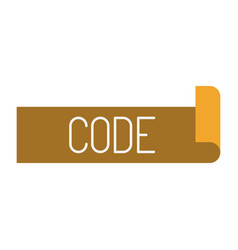 Colorful silhouette label text of code vector