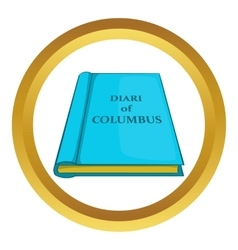 Columbus diary icon vector