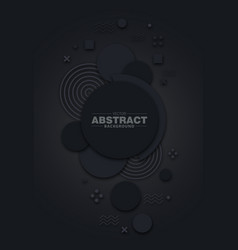 dark abstract circle background vector image