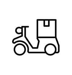 delivery logistic icon vector image