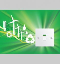 eco switch vector image