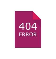 Error 404 file Concept vector