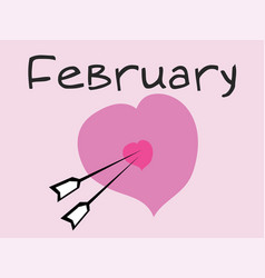 February 14 th valentines day vector