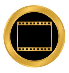 film strip button vector image