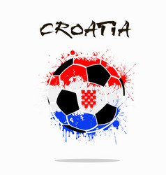Flag of croatia as an abstract soccer ball vector