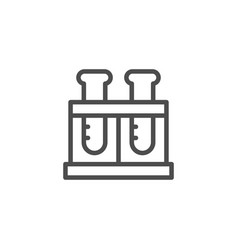flasks line icon vector image
