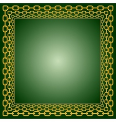 Frame of chains vector image