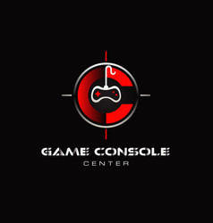 game console logo symbol icon vector image