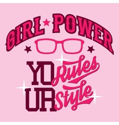 Girl power t-shirt design vector