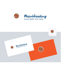 golfball logotype with business card template vector image