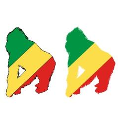 Gorilla Congo vector image