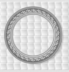 Gray circular frame vector