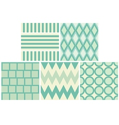 Green 5 style pattern and wallpaper vector