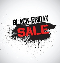 Grunge Black Friday sale background vector image
