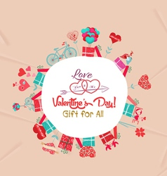 Happy valentines day gift for all vector