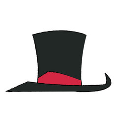 Hat with host entertainment show accessory vector