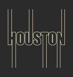 Houston city name vector