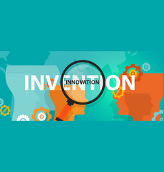 Innovation vs invention concept thinking vector