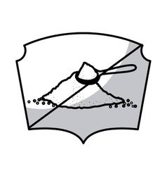 Isolated frame of sugar frame design vector image