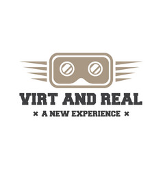Isolated vr headset logotype virtual reality vector