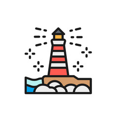 lighthouse fisgard victoria canada flat vector image