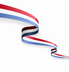 luxembourg flag wavy abstract background vector image