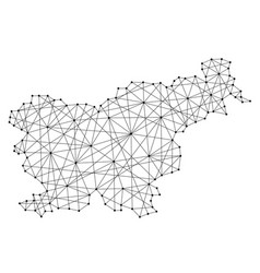 map of slovenia from polygonal black lines vector image