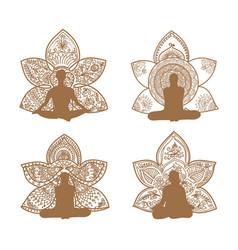 Meditation set vector
