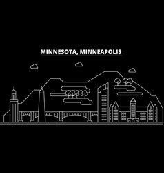 Minneapolis silhouette skyline usa - minneapolis vector