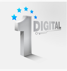 number one digital vector image
