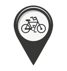 Pin marker location icon vector