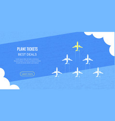 planes flying above clouds over blue vector image