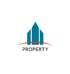 property company logo template design vector image