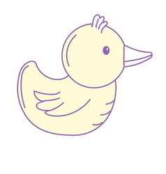 Rubber duck game to entertainment in the shower vector