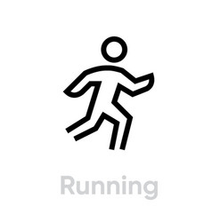 running activity icon vector image