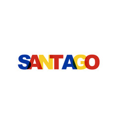 santiago phrase overlap color no transparency vector image