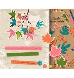 Scrapbooking set about autumn vector image