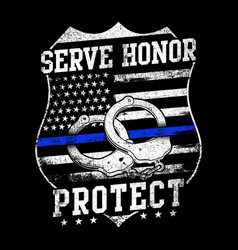 serve honor protect - police officer vector image