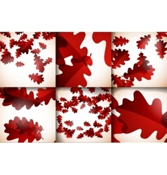Set beautiful structures of the autumn vector image