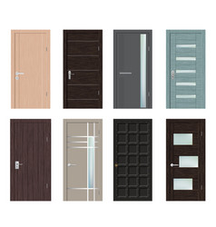 set of different modern door vector image